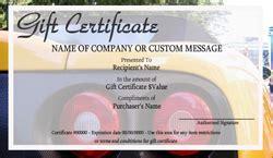 automotive gift certificate template auto repair and maintenance gift certificate templates