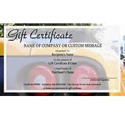 Automotive Gift Certificate Templates  Easy To Use Certificates