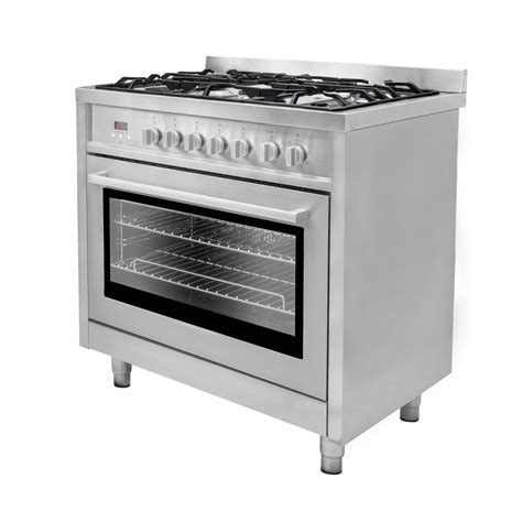 Oven Gas Cosmos 36 in 3 8 cu ft stainless steel dual fuel range