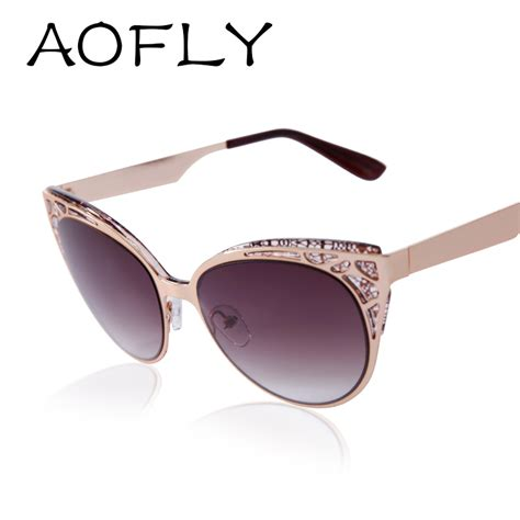 Frame Cat Eye 2003 aofly fashion brand design cat eye sunglasses high