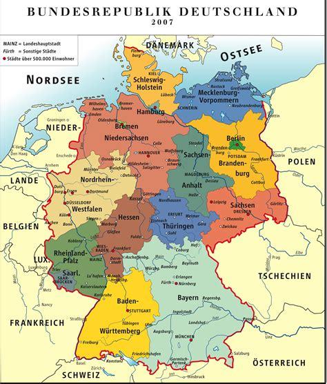 landkarte deutschland politische karte bunt weltkarte - Deutsche Mappe