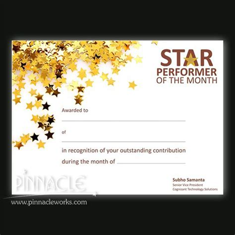 performer certificate