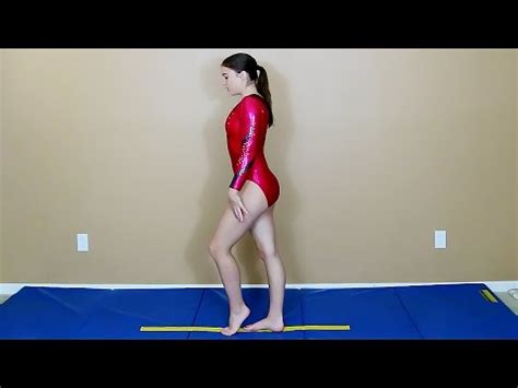 home gymnastics beam drills
