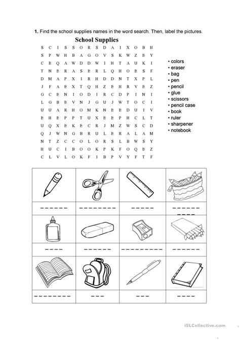 Printable School Worksheets