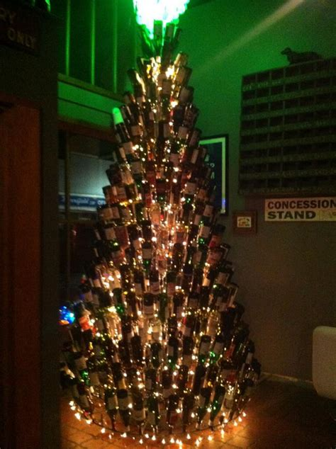 christmas tree made from wine bottles 80 wine bottle crafts hative