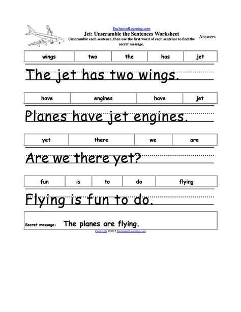Kindergarten Sentence Worksheets by Kindergarten Sentences Worksheets Sentence Structure