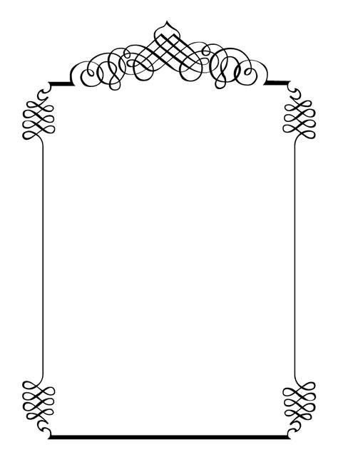 Free Vintage Clip Art Images Calligraphic Frames And Borders Borders Templates