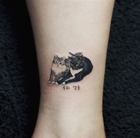 tiny cat tattoo small cats by sol cattattoo cat