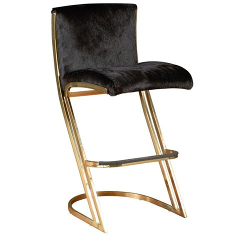 Gold Bar Stool by Gold And Hide Bar Stools Beautiful Pieces Of Furniture