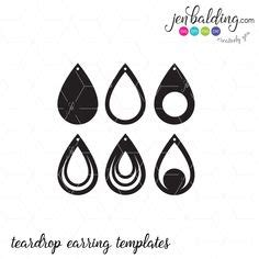 Earring Card Template Silhouette by Tear Drop Svg Pendant Svg Vector Dxf Leather Earring