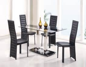Modern Black Dining Room Sets Fascinating Dining Room Sets For Sale Modern Glass Top Square Table