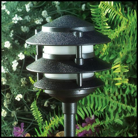 3 tier landscape lighting pagoda fixture 3 tier 20 leds 1 6 watt 12 volt landscape lights architect design lighting