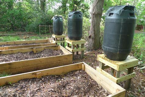 barrels collection for gardening prepper days
