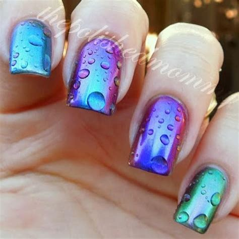 water pattern nails latest fashion trend of 3d water droplet nail polish