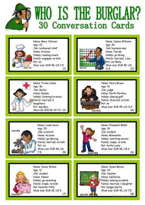 esl plays for teachers 40 great plays for esl classes books who is the burglar 30 conversation cards