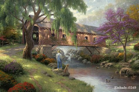 home interiors kinkade prints kinkade canvas print of painting the ole fishing childhood memories landscape