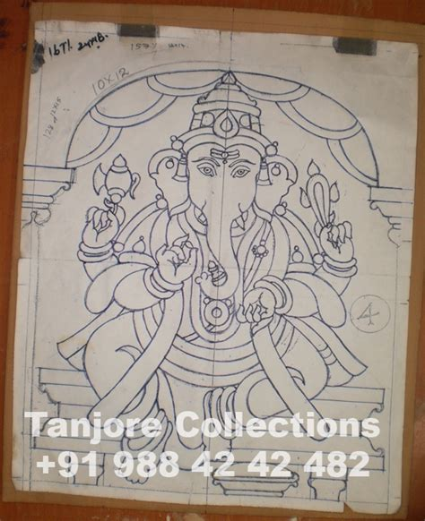 from sketch to painting making of tanjore painting step by step procedure tanjore collections