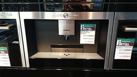 siemens kaffeevollautomat integriert kaffeevollautomaten tk76k573 schwarz edelstahl siemens