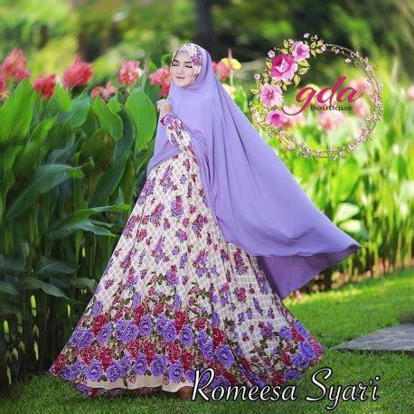 Lubna Syar I Lavender 1 romeesa lavender baju muslim gamis modern