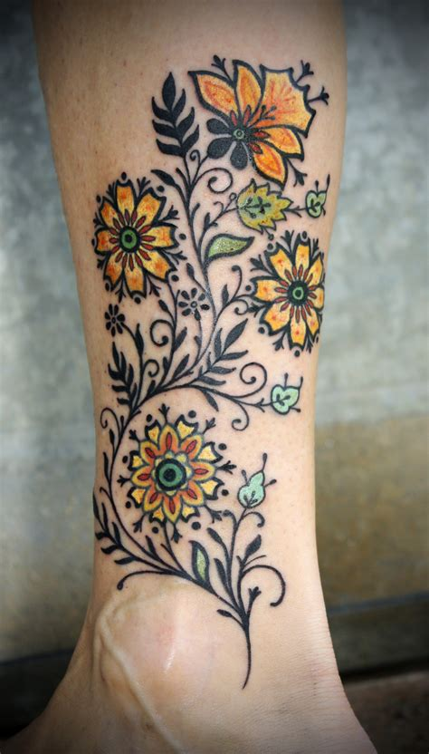 vintage style tattoos top vintage inspired floral tattoos images for