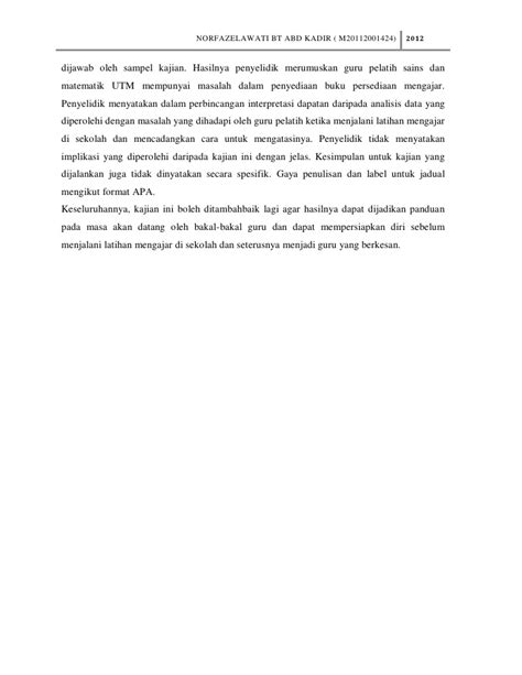 format menganalisis jurnal ulasan jurnal fazela