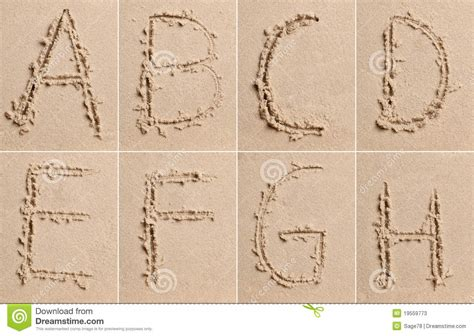 Letter In The Sand Sand Alphabet Stock Photos Image 19559773