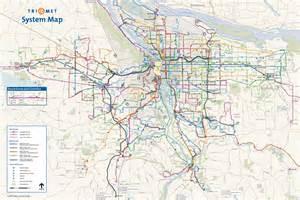 portland oregon transit map transportation pela portland