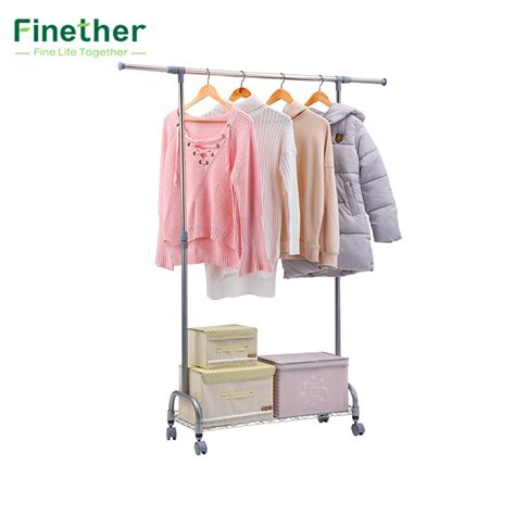 hanging clothes storage finether adjustable rolling garment rack clothes storage