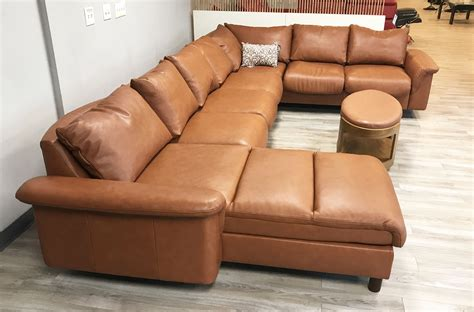 7 seat sectional sofa stressless e300 7 seat sectional sofa with longseat in royalin tigereye leather by ekornes
