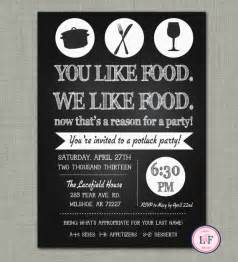 chalkboard pot luck invite just because