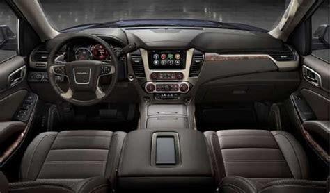 gmc yukon interior 2016 2018 gmc yukon denali specs redesign interior changes