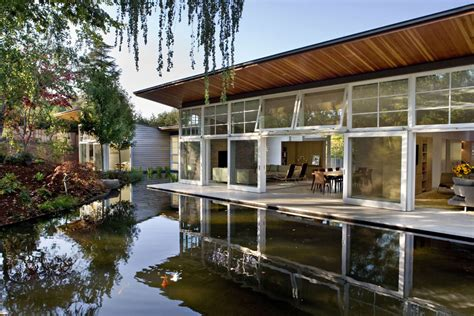 building a home design ideas beautiful hot climate design sustainable retreat by the pond in atherton california