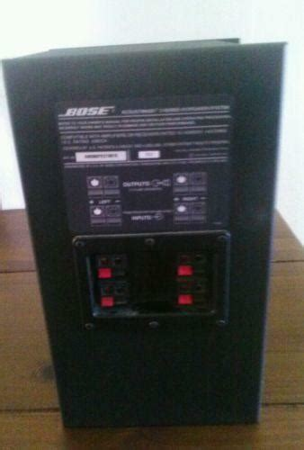 bose acoustimass home speakers subwoofers ebay