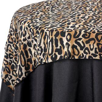 leopard print table overlays print table linen rentals