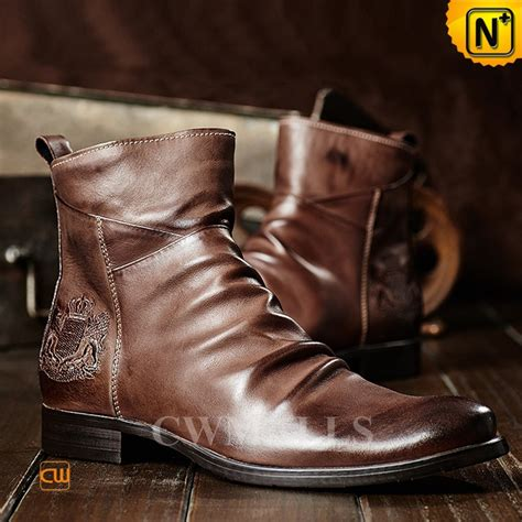 vintage leather boots cwmalls 174 mens vintage leather ankle boots cw726502