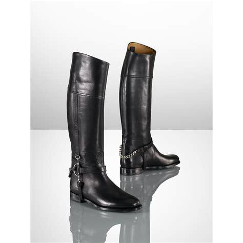 ralph boots ralph calf chain boot in black lyst