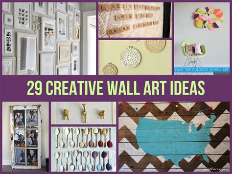 Creative Do It Yourself Wall Ideas