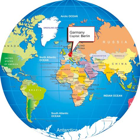 map of the world germany world map with germany
