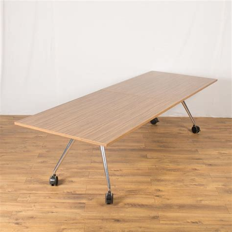 Folding Boardroom Tables Wilkhahn Walnut 2800x1000 Folding Boardroom Table