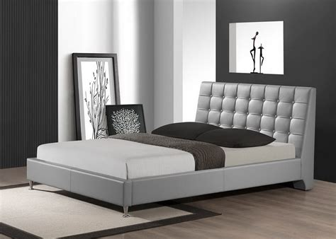 Modern Headboards by Baxton Studio Zeller Gray Modern Bed With Upholstered