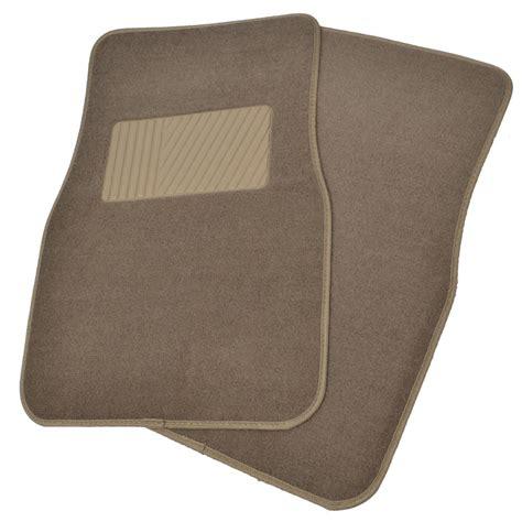 Car Floor Mat Heel Pad by Solid Beige Premium Car Auto Thick Carpet Floor Mat W