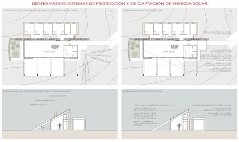 Living Room And Kitchen Design Plan Experimental Bioclimatic House Tenerife