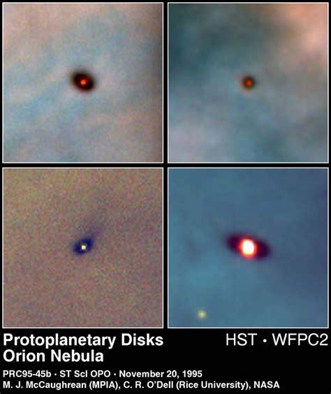 protoplanetary discs   orion nebula esahubble