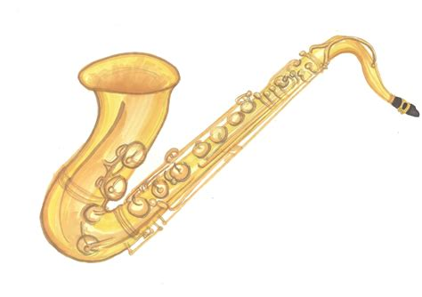 saxophone clip saxophone clipart instrument pencil and in color