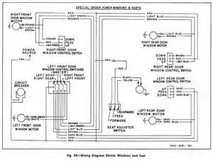 electric windows and seats wiring diagram for 1955 chevrolet passenger car circuit wiring diagrams