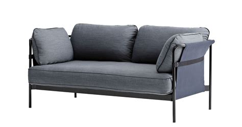 can sofa can straight sofa 2 seaters l 172 cm grey blue black