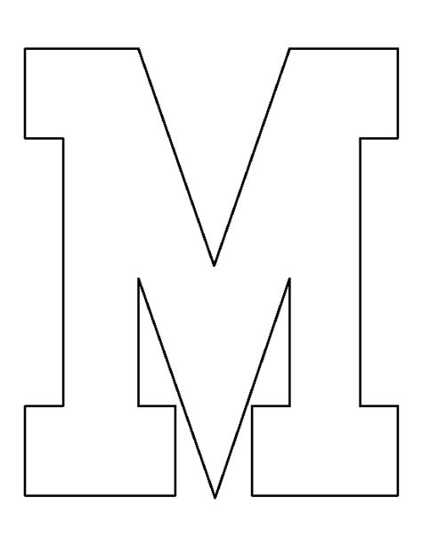 Printable String Templates - letter m pattern use the printable outline for crafts