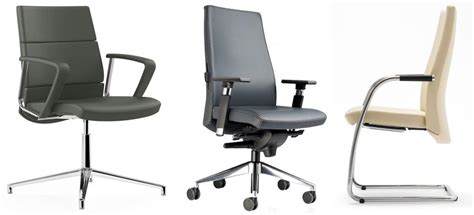 trendy ergonomic office chairs leather armchair refined design for manager office