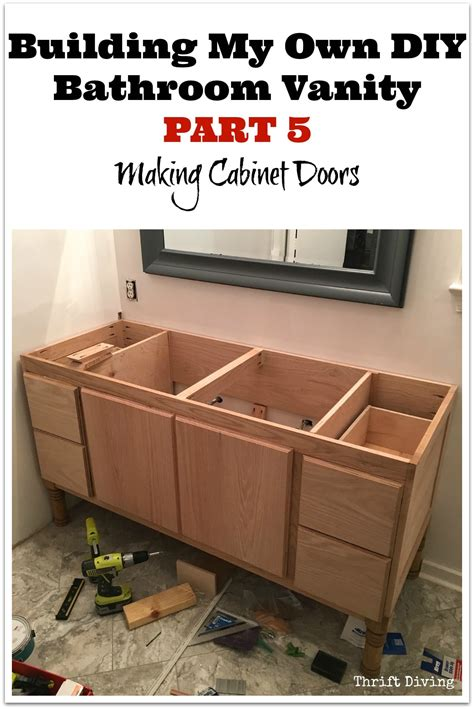 make bathroom vanity from kitchen cabinets building a diy bathroom vanity part 5 making cabinet doors