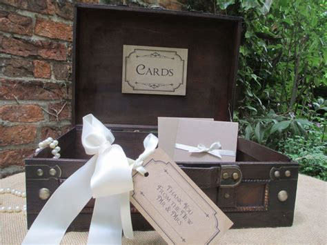 wedding post box diy vintage style wooden wedding card suitcase post box diy